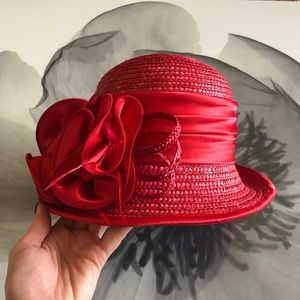 Fancy Red straw hat